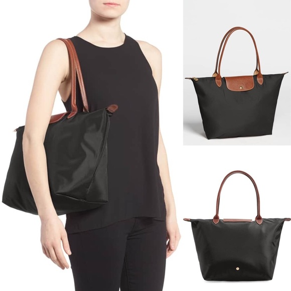 95709cae0a0 Longchamp Handbags - LONGCHAMP 'Large Le Pliage' Black Tote
